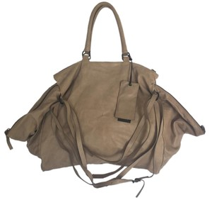 Marsèll Leather Designer Italian Zips Soft Tote in Sand