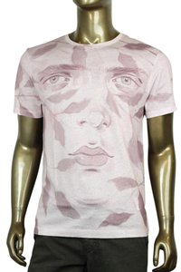 Gucci Cotton Graphic T Shirt PInk