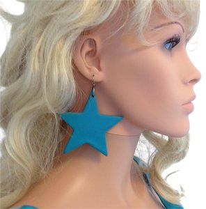Almost Fuschia Large Vintage Turquoise Star earrings