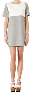 Topshop short dress Grey/white on Tradesy
