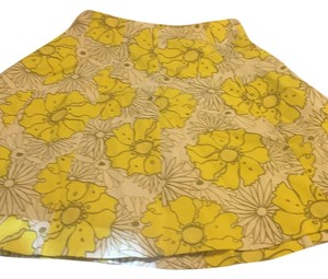 Topshop Skirt Yellow and white