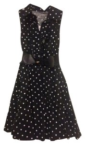bailey blue short dress Black with white polka dots Vintage Style 1950 A-line Belted New Tags on Tradesy