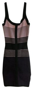 BCBGMAXAZRIA short dress Black, purple Striped Bandage Mini on Tradesy