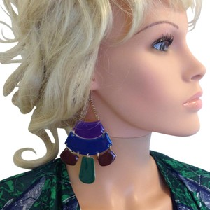 Large pierced wire earrings