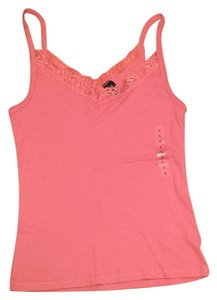 Gap Lace Trim Top Pink
