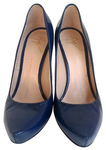 Giuseppe Zanotti Designer Fashion Metal Heel Formal Stiletto Blue Pumps
