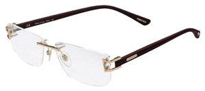 Chopard New Chopard glasses with case VCH966 08FC shiny Gold copper/black 57x15x140