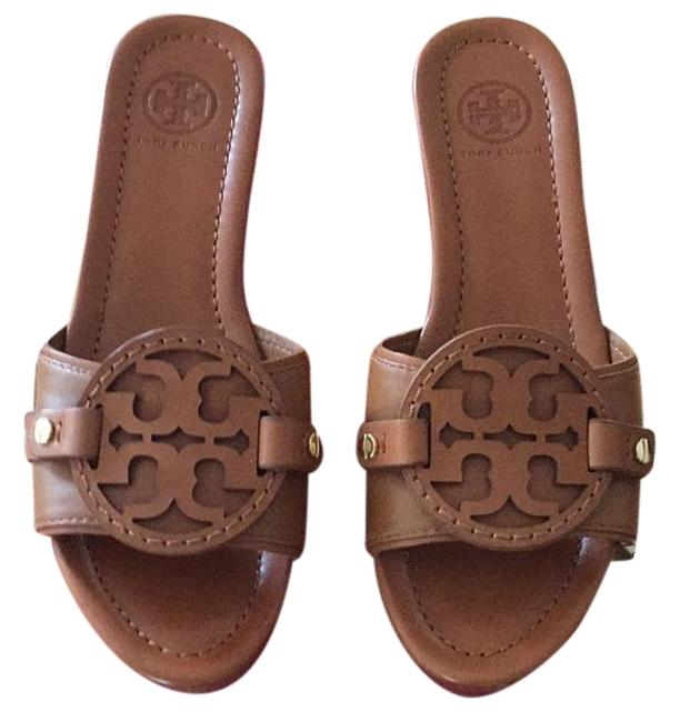 Item - Tan Madalena Mules/Slides Size US 7.5 Regular (M, B)