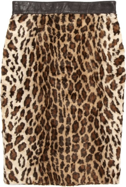 Elizabeth and James Pencil Skirt Leopard