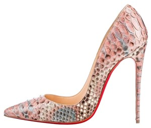 Christian Louboutin So Kate Python Rosette Pink Pumps