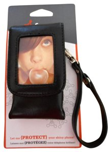 Other New Black Leather Cell Phone Case With Strap by Fuse