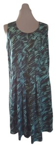 Vera Wang short dress Black & Teal Timeless Design Lightweight on Tradesy