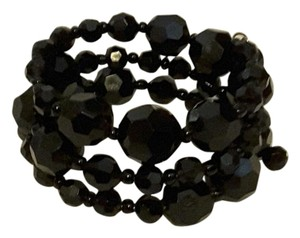 Other Black Beaded Curl Wire Bracelet
