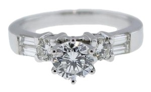 1.04ct E SI2 EGL Round Diamond 14K White Gold Engagement Ring Size 7.25