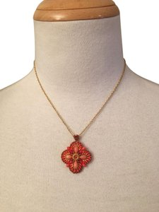 Miguel Ases Miguel Ases Flower Pendant Necklace