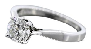 1.00ctw Near Colorlress Round Brilliant Cut 18k White Gold Engagement Ring