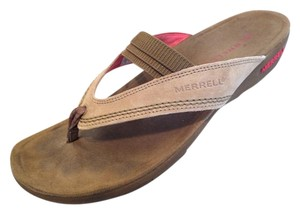 Merrell 11 Slides Leather Brown Sandals