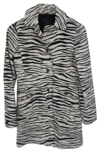 Marc Jacobs Animal Print Longsleeve Button Down Trench Trench Coat