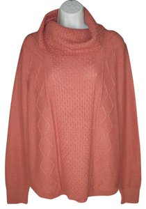 Ann Taylor Cable Knit Cowl Neck Mauve Sweater