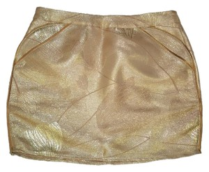 ASOS Gold Mini Metallic Gilded Mini Skirt
