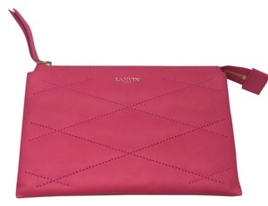 Lanvin Zipped Sugar Leather Pouch