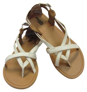 Charlotte Russe Size 8.00 M Very Good Condition White Sandals