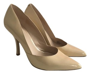 BCBGeneration Patent Leather Nude Pumps