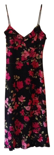Item - Black Pink Summer Mid-length Night Out Dress Size 4 (S)