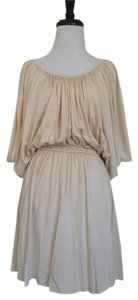 Rachel Pally short dress Cream Liv Jersey Raw Cut on Tradesy