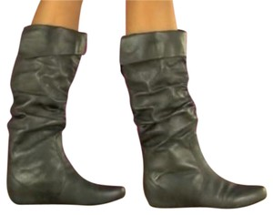 Steve Madden Grey Leather Boots