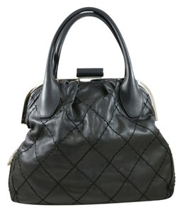 Chanel Lambskin Quilted Tote in Black