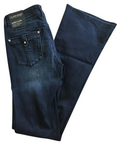 White House | Black Market Denim Stretchy Boot Cut Jeans-Dark Rinse