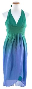 BCBGMAXAZRIA short dress Green/Blue on Tradesy