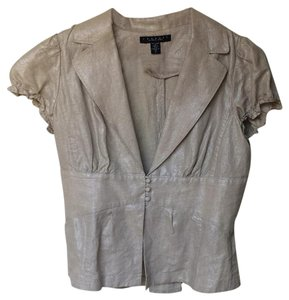 Laundry by Shelli Segal Top Metallic Sand