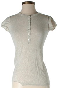Inhabit Button-front Henley T Shirt Beige