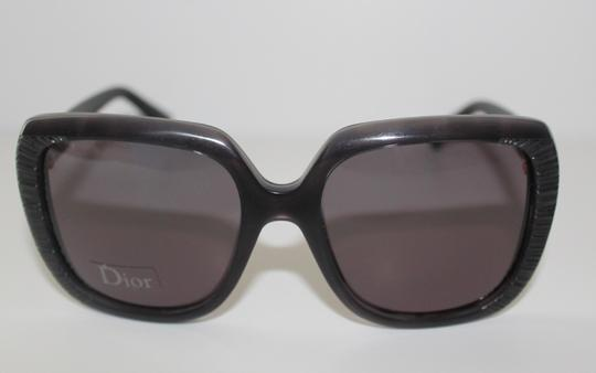 eb7bc9ba20 Dior Gray Oversized with Leather Sides - Christian Square Taffetas1 648y1  Leather Sunglasses .