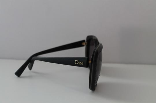 Dior Dior Gray Oversized Sunglasses with Leather Sides - CHRISTIAN DIOR Square Sunglasses DIOR TAFFETAS1 648Y1 Gray Leather Temples