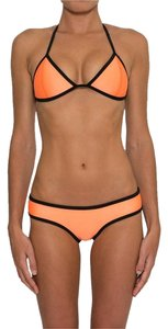 Brakinis Brakini Orange Neoprene Bikini Set Swimsuit Swimwear