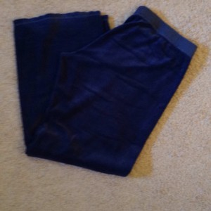 Juicy Couture Juicy couture velour track pants in dark blue- size xl