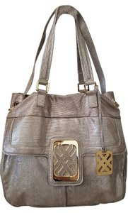 Joelle Hawkens Leather Tote in Champange