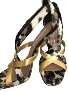 Diane von Furstenberg Dvf Leather Ibiza Crystal Sandals
