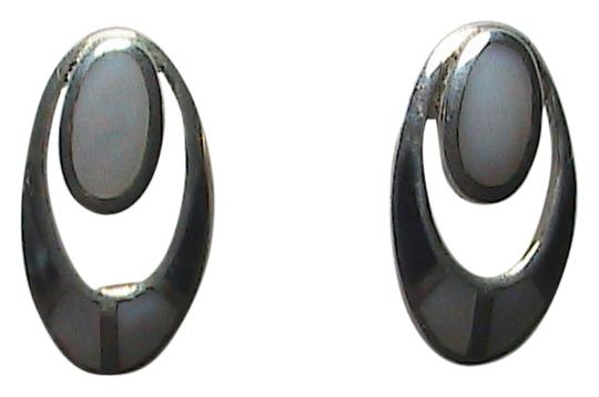 Preload https://item4.tradesy.com/images/sterling-silver-black-onyx-and-mother-of-pearl-earrings-1690748-0-0.jpg?width=440&height=440