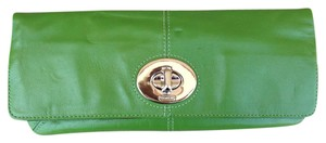 Coach Leather Madeline 13580 Green Clutch