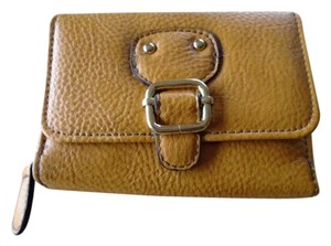 Jaclyn Smith NWT Women's Faux Leather Tri-Fold Buckle Gold Wallet by Jaclyn Smith