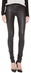 Helmut Lang Leather Skinny Pants Black
