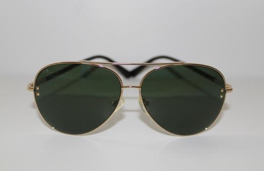 Valentino Valentino Gold Aviator Sunglasses with Authentic Case