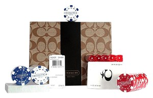Coach Coach Poker Set Signature Heritage New In Case