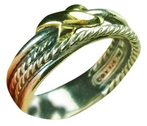 David yurman X Crossover Ring with Gold, size 7