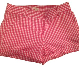 J.Crew Mini/Short Shorts Pink and White