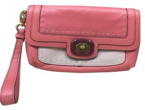 Coach Pinnacle Colorblock Large Wristlet in Begonia Multi